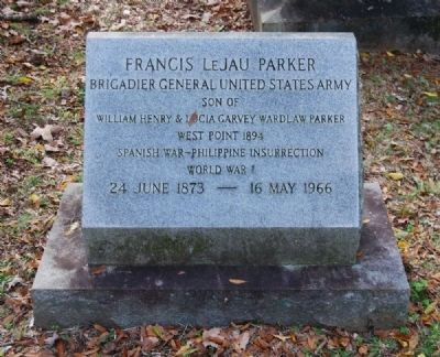 Francis LeJau Parker Tombstone image. Click for full size.