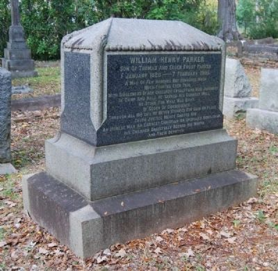 William Henry Parker / Lucia Garvey Wardlaw Tombstone image. Click for full size.