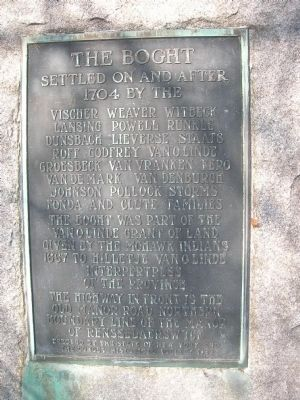 The Boght Marker - Colonie, New York image. Click for full size.