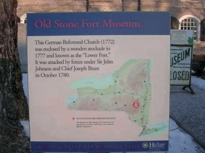 Old Stone Fort Museum <br>Revolutionary War Haritage Trail Marker image. Click for full size.