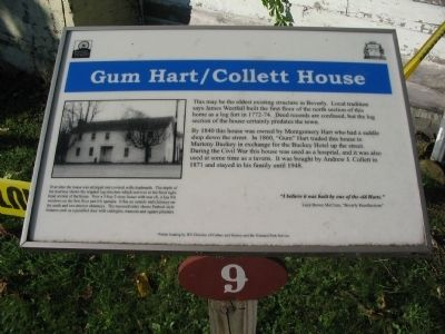 Gum Hart / Collett House Marker image. Click for full size.