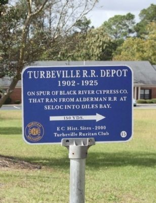 Turbeville R.R. Depot Marker image. Click for full size.