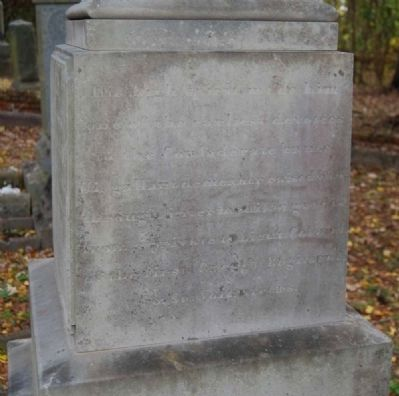 Augustus Marshall Smith Tombstone -<br>East Inscription image. Click for full size.