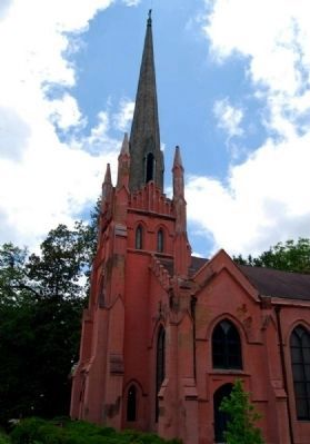 Trinity Episcopal Church -<br>From the Boxwood Garden image. Click for full size.
