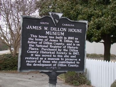 James W. Dillon House Museum Marker image. Click for full size.