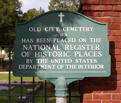 Old City Cemetery NRHP added 1987 - - #87001296 image. Click for full size.