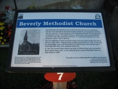Beverly Methodist Church Marker image. Click for full size.