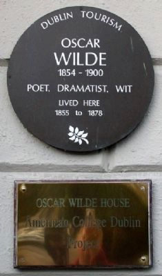 Oscar Wilde House Marker image. Click for full size.