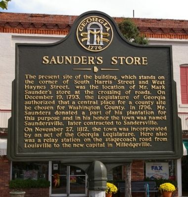 Saunder's Store Marker image. Click for full size.