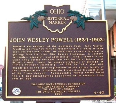 John Wesley Powell Marker (Side A) image. Click for full size.