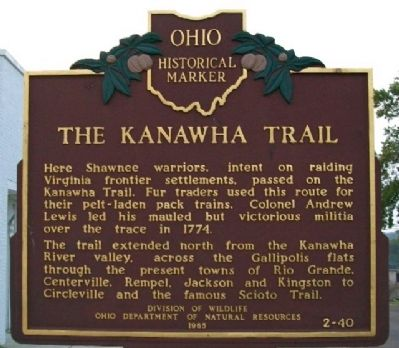 The Kanawha Trail Marker (Side B) image. Click for full size.