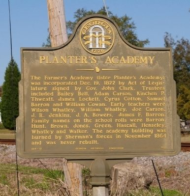 Planter's Academy Marker image. Click for full size.