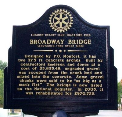 Broadway Bridge Marker (Side B) image. Click for full size.