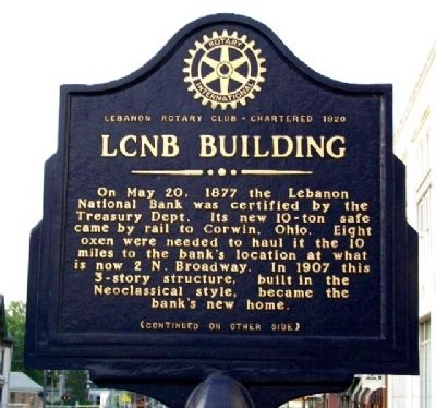 LCNB Building Marker (Side A) image. Click for full size.