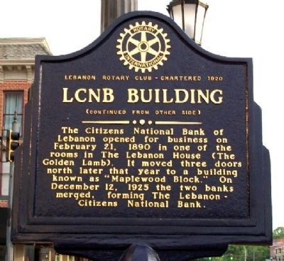 LCNB Building Marker (Side B) image. Click for full size.