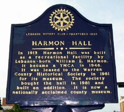 Harmon Hall Marker (Side B) image. Click for full size.