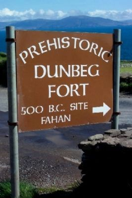 Dunbeg Fort Sign Along Slea Head Drive image. Click for full size.