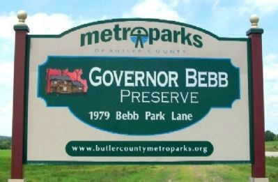 Governor Bebb Preserve Entrance Sign image. Click for full size.