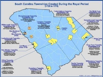 SC Townships Created During the Royal Period (1729-1776) image. Click for full size.