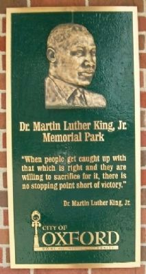 Martin Luther King Jr. Park Marker image. Click for full size.