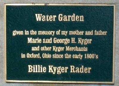 Water Garden Marker in Martin Luther King, Jr./Oxford Memorial Park image. Click for full size.