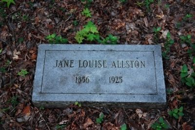 Jane Louise Allston Tombstone<br>1856-1925 image. Click for full size.