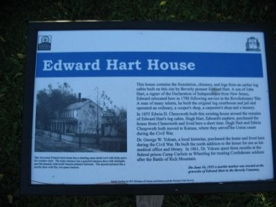 Edward Hart House Marker image. Click for full size.