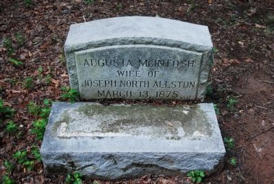 Augusta McIntosh Tombstone image. Click for full size.