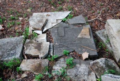 Heavily Damaged Pettigru Tombstone image. Click for full size.