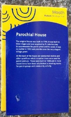 Parochial House Marker image. Click for full size.