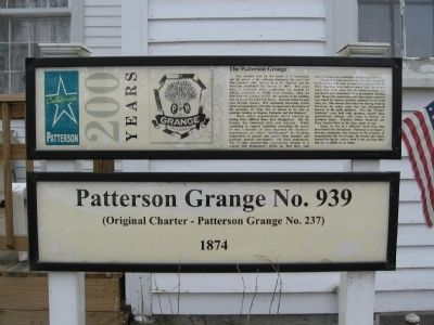 Patterson Grange No. 939 Marker image. Click for full size.