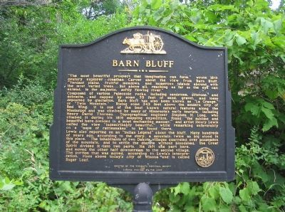 Barn Bluff Marker image. Click for full size.