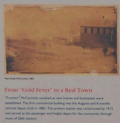 "MACK Marker - From ""Gold Fever"" to Real Town image. Click for full size."