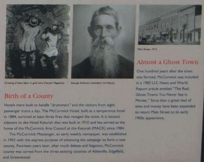 MACK Marker - Birth of a County / Almost a Ghost Town image. Click for full size.