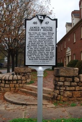 James Milton Cherry House Marker image. Click for full size.