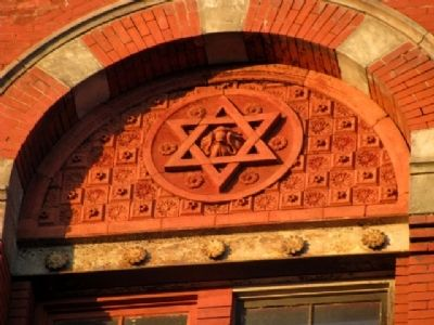 Six-Pointed Star Detail on Former Clyffside Brewery image. Click for full size.