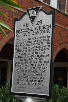Episcopal Church of Our Saviour Marker image. Click for full size.