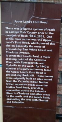 Upper Land's Ford Road Marker image. Click for full size.