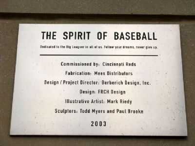 The Spirit of Baseball Marker image. Click for full size.