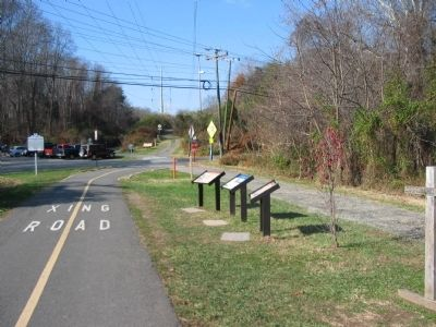 Markers at the Site of Hunter Station image. Click for full size.