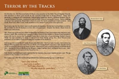 Terror by the Tracks Marker image. Click for full size.