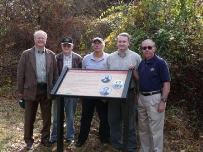 Members of the Hunter Mill Defense League at the Marker image. Click for full size.