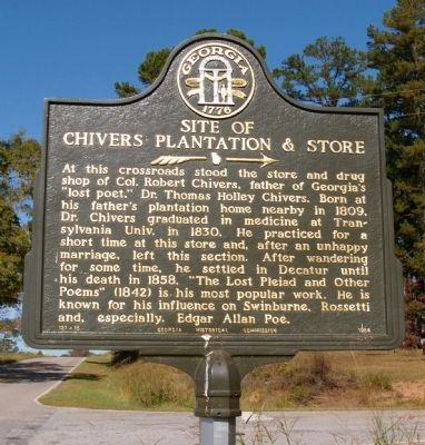 Site of Chivers Plantation and Store Marker image. Click for full size.