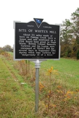 Site of White's Mill Marker image. Click for full size.