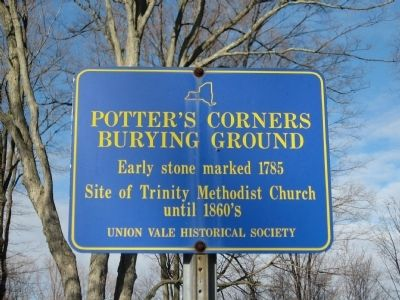 Potters Corners Burying Ground Marker image. Click for full size.