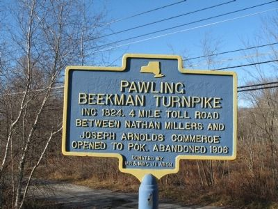Pawling Beekman Turnpike Marker image. Click for full size.