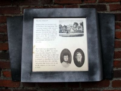 The Taft Museum Marker image. Click for full size.