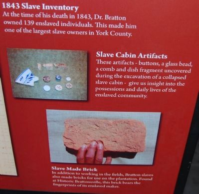 1843 Slave Inventory / Slave Artifacts / Slave Made Bricks image. Click for full size.