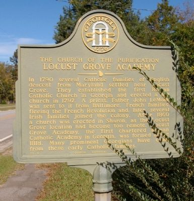 The Church of the Purification Locust Grove Academy Marker image. Click for full size.