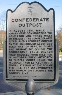 Confederate Outpost Marker image. Click for full size.
